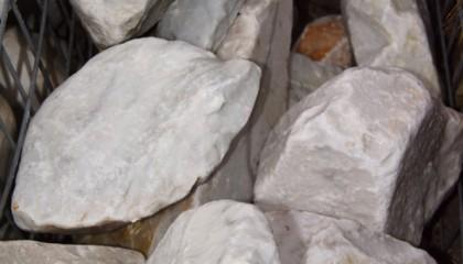 Ziersteine – Carrara weiß Bruchsteine