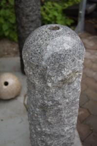 Granit Säule Poliert grau