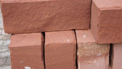 Mauersteine – Sandstein rot Rustikal