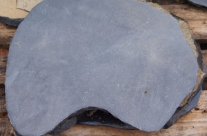 Trittstein Platten schwarz
