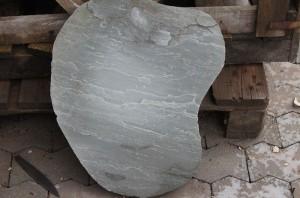 Trittstein Platten grau