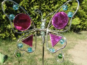 Gartenstecker Schmetterling 1