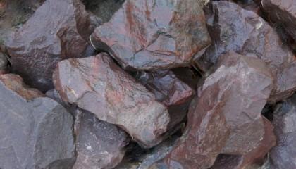 Grobschlag – Basalt rot 80-150mm