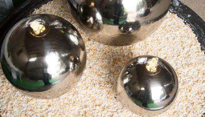 Edelstahl Kugel 3-er Set 28/25/20cm