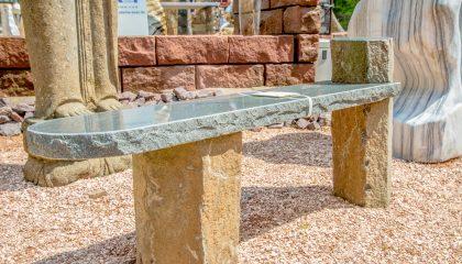 Gartenmöbel – Bank Basalt