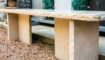 Gartenmöbel – Bank Jura Kalk