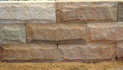 Mauerstein – Sandstein gelb gesägt